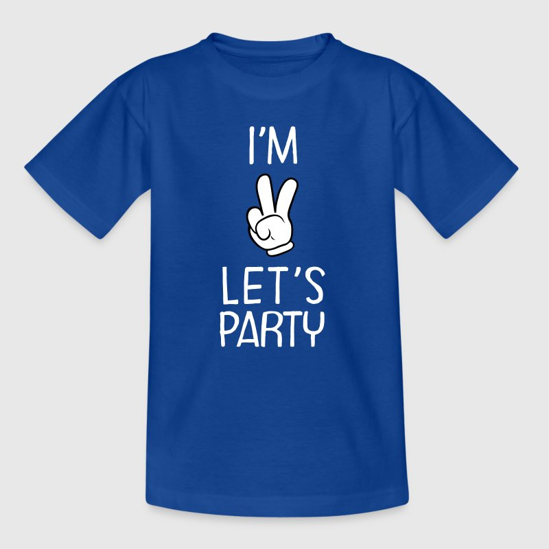I\'m Two - Let\'s Party - Teenager T-shirt