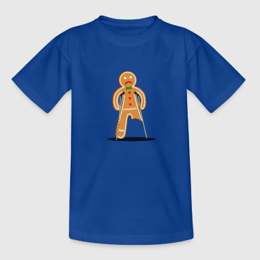 gingerbread man hurt (blue) - Teenager T-shirt