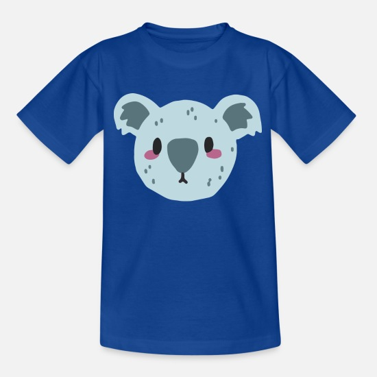Tier T-Shirts - Koala - Teenager T-Shirt Royalblau