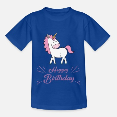 Happy Birthday Unicorn Happy Birthday - T-shirt teenager