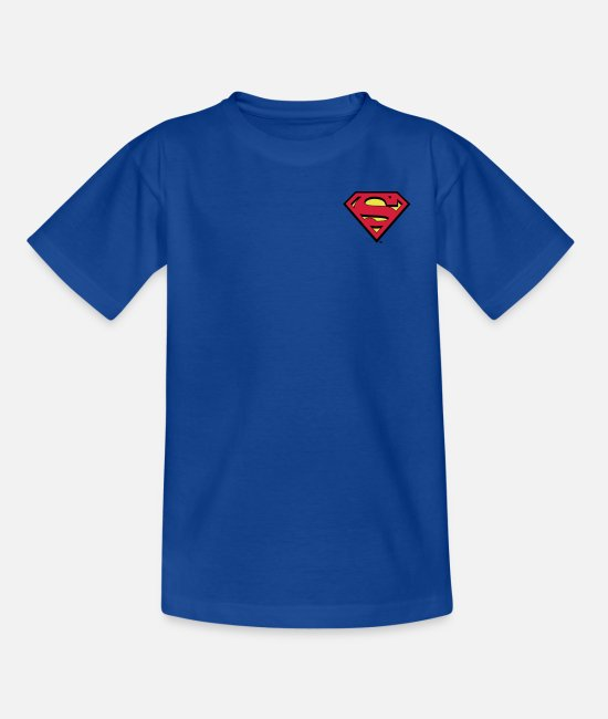 Superheroes T-shirts - Superman S-Shield logo small - Teenager T-shirt koningsblauw
