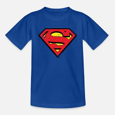 Superman Superman S-Shield Logo vintage - T-shirt teenager