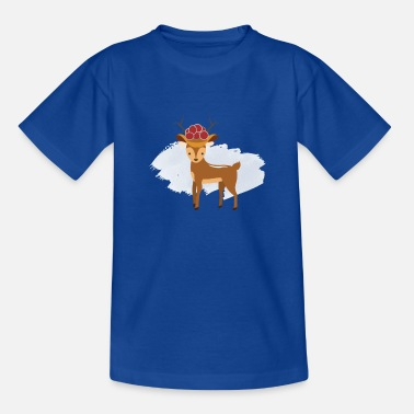 Deer with Black Forest Bollenhut - Teenage T-Shirt