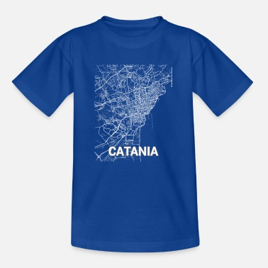 Catania City Catania city map and streets - Teenage T-Shirt