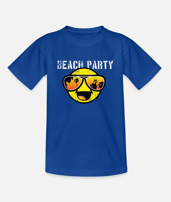 Bestsellers Q4 2018 T-Shirts - SmileyWorld 'Beachparty' teenager t-shirt - Teenage T-Shirt royal blue