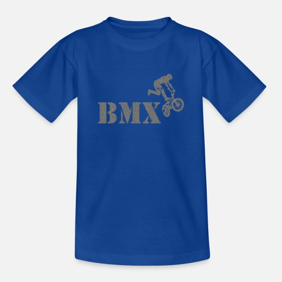 Bike T-Shirts - BMX bike - Teenage T-Shirt royal blue