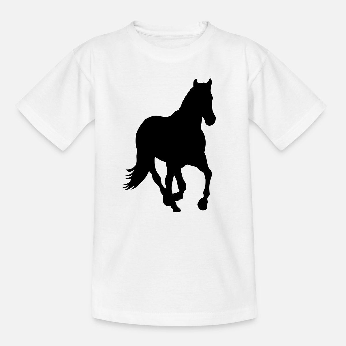 e0fcd9b0b Cheval poney cavalier sauvage T-shirt Ado - blanc