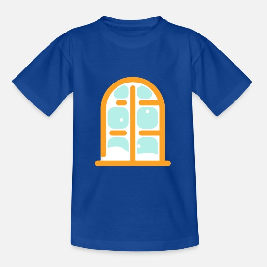 Window T-Shirts - frozen window - Teenage T-Shirt royal blue