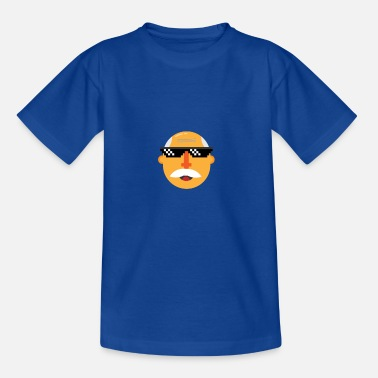 Grandpa Cartoon Design by (Floral Coffee) - Teenage T-Shirt