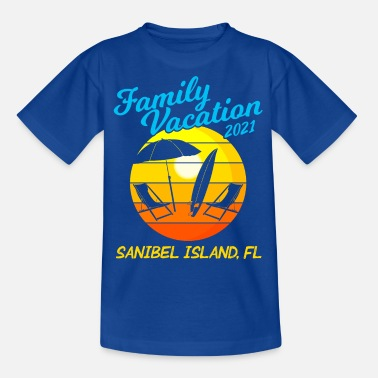 Florida Beach Familievakantie 2021 Sanibel Island - Teenager T-shirt
