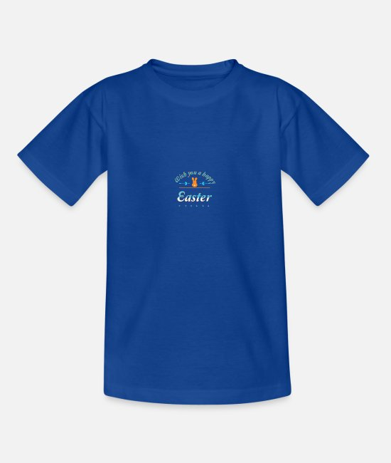Easter T-Shirts - Happy Easter - Teenage T-Shirt royal blue