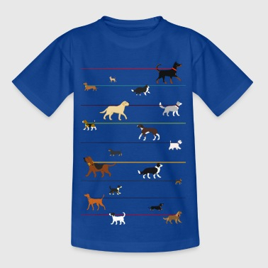 Dogs on a leash 1 - Teenage T-shirt