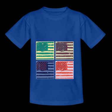 Pop Art America Flag Gift colorido - Camiseta adolescente