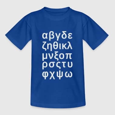ALPHABET GRIEKSE - Teenager T-shirt