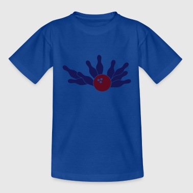 bowling strike-ball (2c) - Teenage T-shirt