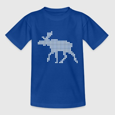 Pixel Elg - Teenager-T-shirt