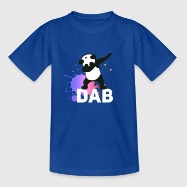 dab spatter panda dabbing touchdown fun cool LOL - Teenage T-shirt