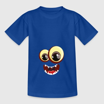 Twee monster ogen met de mond - Teenager T-shirt