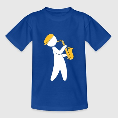 A Jazz Musician Playing On The Saxophone - Teenage T-shirt