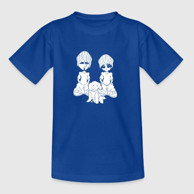 doggycouple wite - Teenager T-Shirt