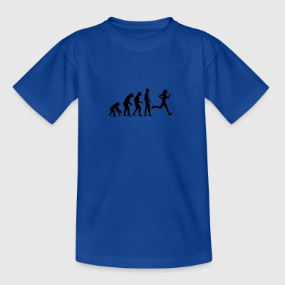 Human Evolution Running - T-shirt tonåring