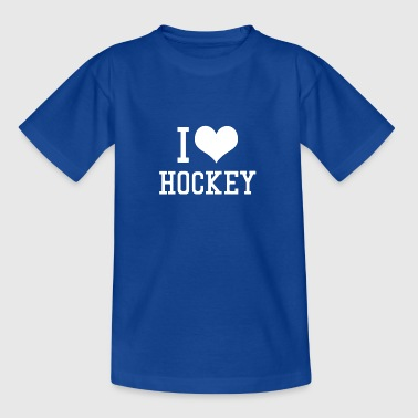 I Love Hockey - Teenager T-Shirt