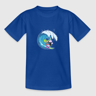 Unicorn Surfer Girl - Teenager-T-shirt