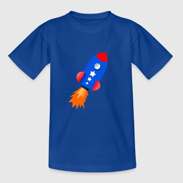 blaue Rakete - Teenager T-Shirt