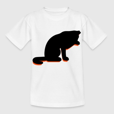 A cat licking its paw - Teenage T-shirt