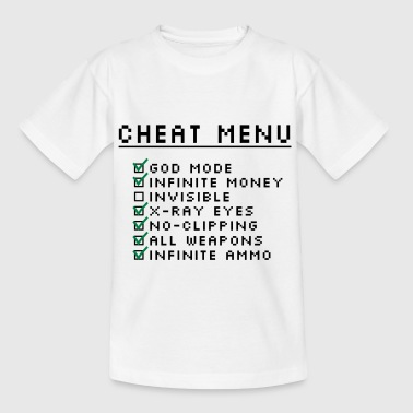 Gaming Cheat Menu - Teenage T-shirt