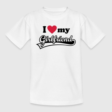 I love my Girlfriend - Amo a mi novia. Mujer, Espo - Camiseta adolescente