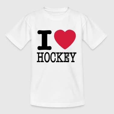 i love hockey / I heart hockey - Teenager T-shirt