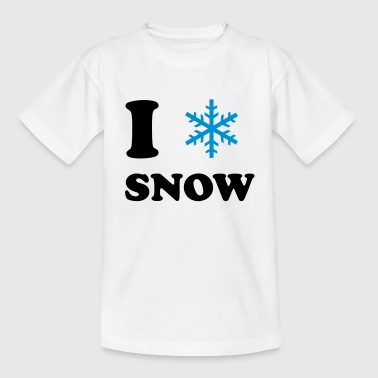 I LOVE SNOW - Teenager T-Shirt
