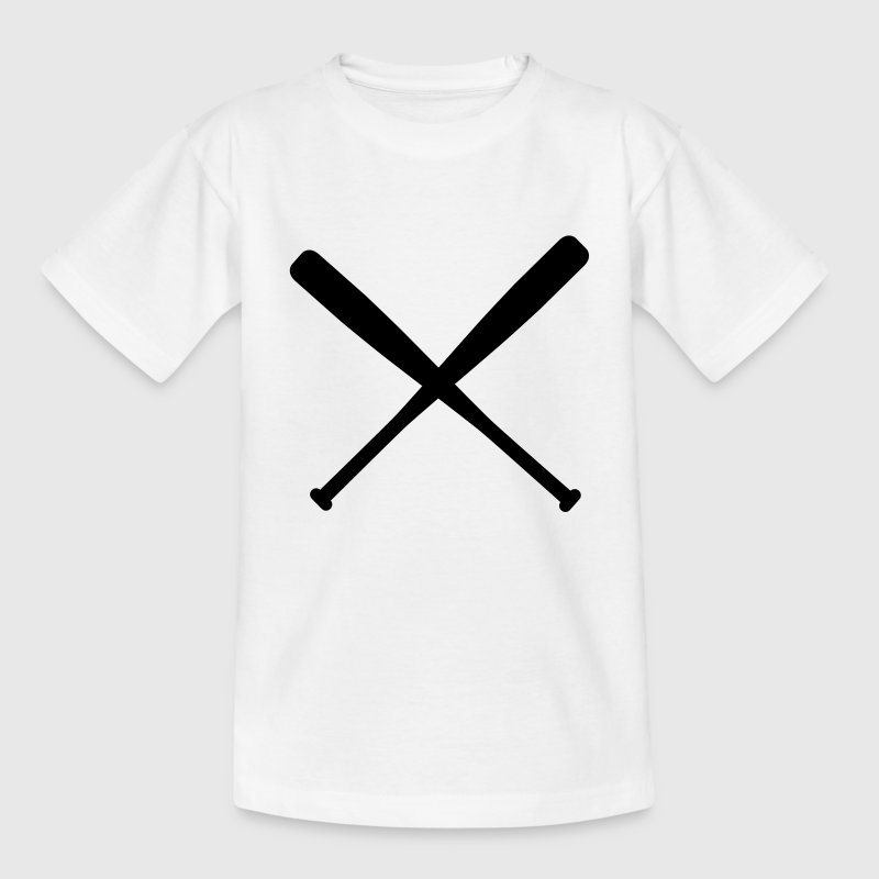 baseball bat crossed - Teenage T-shirt