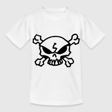 cartoon skull - T-skjorte for tenåringer