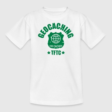 geocaching - 250 caches - TFTC / 1 color - Teenager T-Shirt