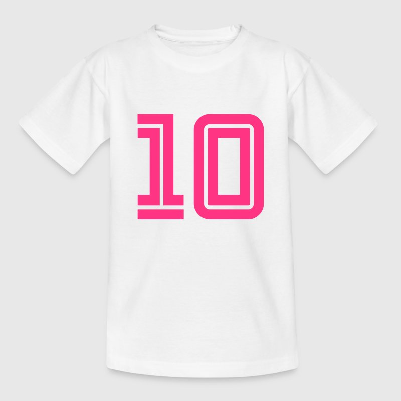 10 Zahlen football fútbol Fußball Sports cairaart - Teenager T-Shirt