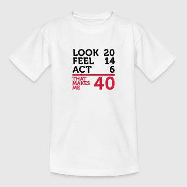 Jeg er 40 år, men .... - Teenager-T-shirt