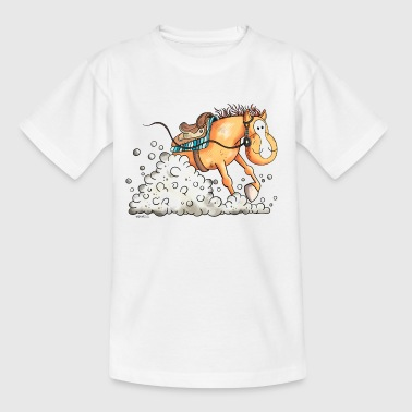 Westernpferd im Slide - Teenager T-Shirt