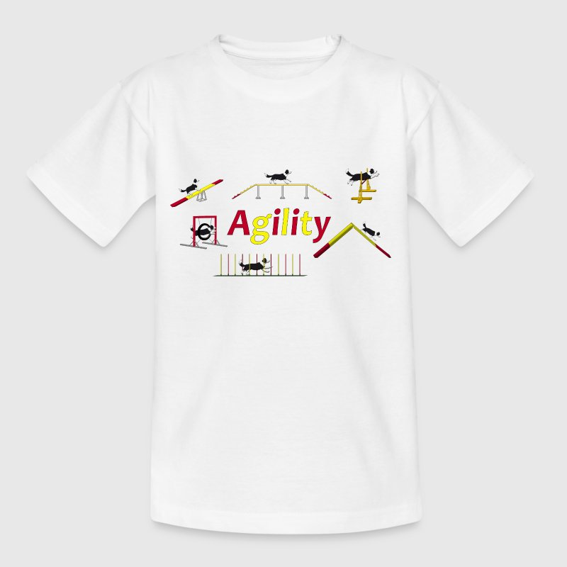 Agility equipment with Titel.png - Teenage T-shirt