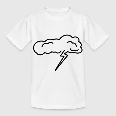 Bliksem Tekenen Storm cloud - Teenager T-shirt
