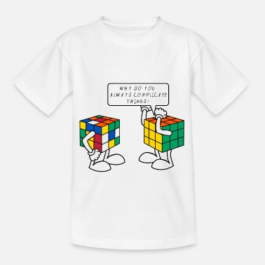 Rubiks Rubik's Cube Humour Complicate Things - Teenager T-shirt
