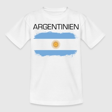 Soccer Flag Argentienen Fan - Teenage T-Shirt