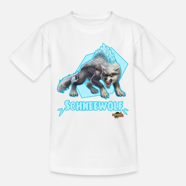 Schleich Eldrador Schneewolf Pose - Teenager T-Shirt