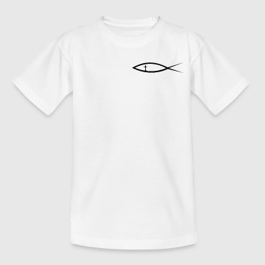 Christentum Fisch mit Kreuz (Itchys) - Teenager T-Shirt