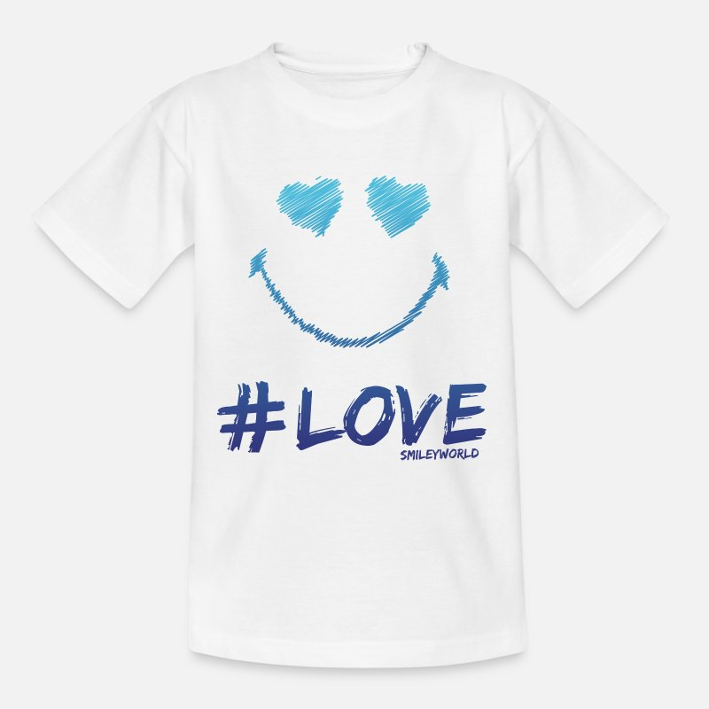 Officialbrands Camisetas - SmileyWorld '#Love' teenager t-shirt - Camiseta adolescente blanco