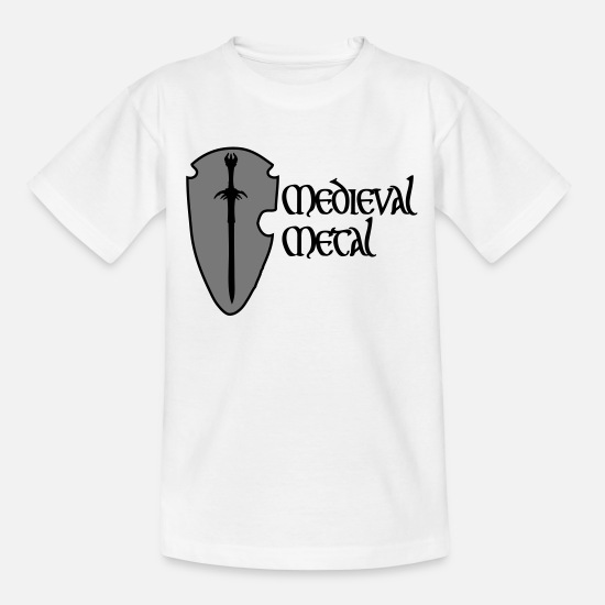 Gift Idea T-Shirts - Medieval Metal - Teenage T-Shirt white