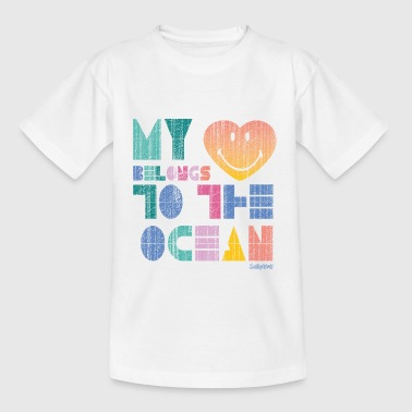 SmileyWorld 'My Heart - Ocean' teenager t-shirt - Nuorten t-paita