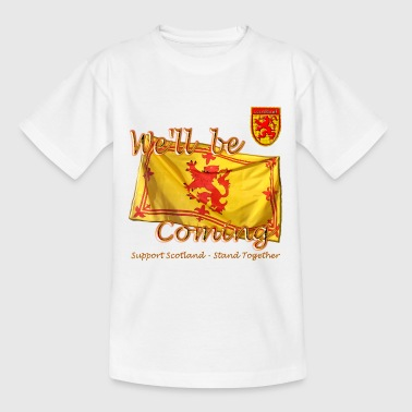 Scottish Lion Rampant Football - Teenage T-Shirt