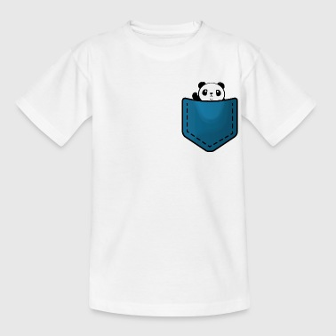 Panda in a pocket - Teenage T-shirt